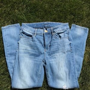The Skinny Crop high rise distressed jeans sz 2
